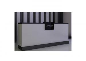 Quality 180CM Length Middle Size Shop Till Counter , High Grade Front Desk Retail Cash Wrap Counter for sale