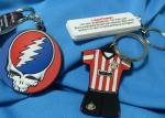 Festival Fashion Design Custom Imprinted Promotional Items Silicone Souvenir Keychain