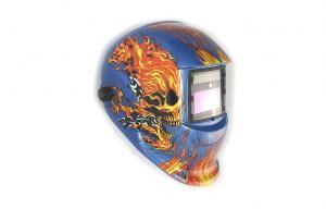 China Custom Painted Vision Welding Helmet Adjustable With Led Light on sale