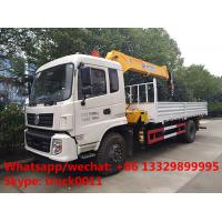 2019s dongfeng tianjin 170hp/190hp diesel 6.3tons truck with crane for sale, factory best price dongfeng crane truck