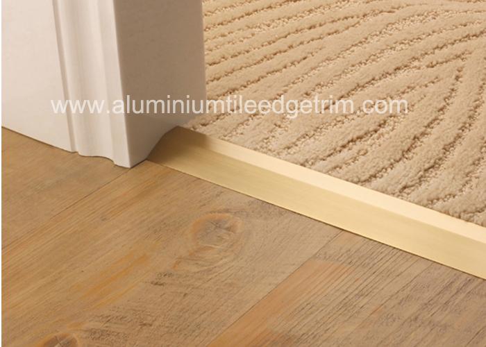Matt Silver Carpet Metal Cover Strip, Transition Pieces For Laminate Flooring To Carpet