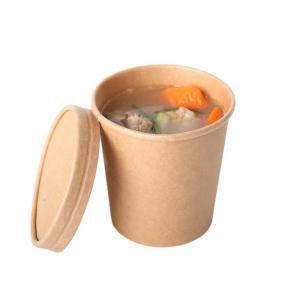 China Biodegradable Leak Proof ODM 90mm Kraft Paper Cups on sale