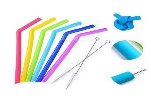 China Smoothie Reusable Silicone Drinking Straws Environmentally Friendly FDA Approval on sale