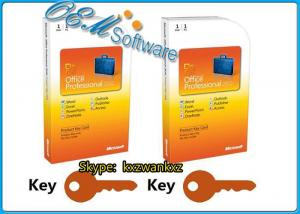 China Full Version Office 2010 Professional FPP Key Card 2010 Pro PKC No DVD Inside on sale