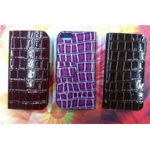 China Black Side Flip Iphone Protective Covers For iPhone5 PU leather Case IP5C-5 on sale