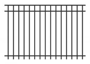 China Aluminum wrought iron fence on sale
