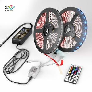 China 16.4ft/5m Led Strip Lights , 12 Volt Dc Rope Lights With Bluetooth Smartphone APP Controller on sale