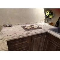 Customized Fancy White Quartz Prefab Stone Countertops For Kitchen Cabinet