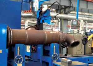China Tube Flange MIG / MAG / CO₂ Automated Welding Machines For Tube Intersection Line on sale