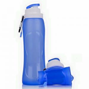 China Sound Portable outdoor silicone camping water bottle collapsible cup on sale