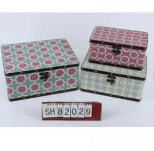 China Vintage Small Suitcase Storage Box antique jewelry box home decoration Gift wooden deck boxes on sale