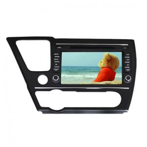 China Oem Factory 2 Din In car dvd gps players Special for Honda 2014 Civic with 8.0-inch Capacitive Touch Screen on sale
