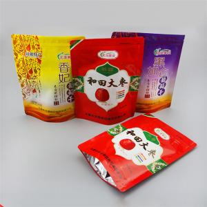 China Aluminum Foil  + PET + PE Stand Up Ziplock Bags For Dried Red Dates Packaging on sale