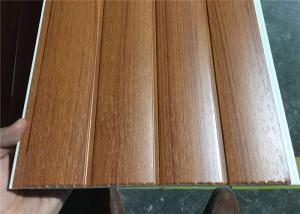 China Vinyl Wood Wall Paneling Sheets , Pvc Bathroom Ceiling Cladding Groove Design on sale