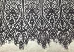 Black Vintage Designs Scallop Edge Alencon Eyelash Lace Trim For Fashion Apparel
