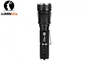 China Self Defense Tactical LED Flashlight IPX - 8 2 Meters Waterproof Black Color on sale