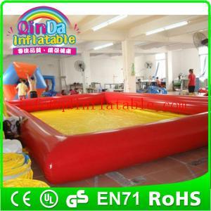 China QinDa Inflatable 0.9 mm pvc tarpaulin inflatable pool large inflatable swimming pool on sale