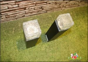China Iron Ice Bollard Square Solar Outside Lights / Solar Powered Decking Lights on sale
