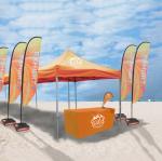 Jambes extensibles imprimées par logo fait sur commande de tentes de salon commercial d'événements promotionnels