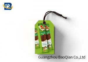 China Paper 3D Custom Printed Hang Tags With String , Custom Swing Tags For Food on sale