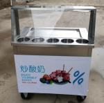 Fried Ice Machine Snack equipment With universal wheels Frozen food Stainless steel 304, table top 3 mm