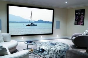 China Home Cinema 150 Wall Mount Fixed Frame Projector Screen With HD Matte White on sale