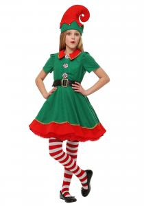 China Holiday juniors halloween costumes , Elf kids fancy dress for Carnival on sale