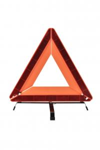 China 600g Net Weight Car Warning Triangle For High Reflective Warning Driver on sale