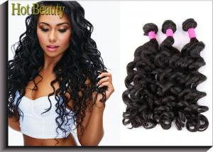 China Grade 6A Unprocessed Human Hair Weave Big Curl Brazilian Grade Black Fashion Style on sale