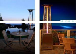 China Professional Exterior Propane Flame Tower Patio Heaters ETL Certification on sale