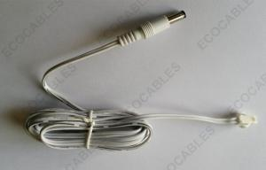 China Car Recorder Cable UL2468 2F Cable With 5525 DC And JST SMP Connector on sale