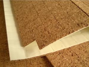 China Almofadas de cortiça adesivas de China para o vidro protetor 12x12mm, fábrica da espessura de 1.5mm on sale