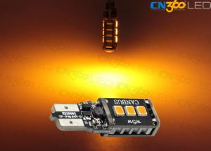 China 350Lumens Amber  SMD T10 Led Bulb Lamp Canbus Error Free 12Volt - 24V on sale