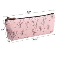 Soft Nylon Zipper Pencil Pouch For Girls Pencil 21*18.5*8 Cm