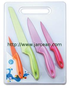 China kitchen knives & knife sets &  non-stick coating knife with color on sale