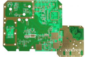 China HF Rogers 4350 Mix Stack up Multilayer PCB Board / FR4 8 Layers PCB on sale