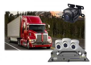 Quality GPS Mobile DVR Camera 4 Channel , School Bus Mobile Car DVR Recorder for sale