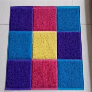 China Anti - Slip Coir Entrance Matting / Front Door Rugs Patchwork Pattern on sale