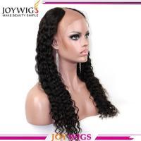"Wholesale Pirce 18"" #1 Middle U Part Virgin Malaysian Hair Kinky Curly U Part Wig"