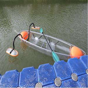 China Day / Night 2 Seats Clear Acrylic Kayak , See Through Ocean Touring Kayak on sale