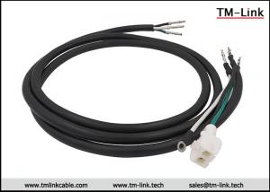 China HXT63080 2P 16AWG male to terminals Black PVC Jacket power cable assemblies supplier