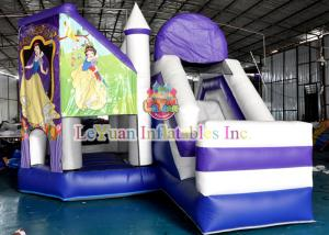 China Snow White Inflatable Bouncy Castle / Theme Inflatable Jumping Castle For Fun on sale