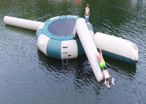 China Square Trampoline Combo With Slide Inflatable Water Sports Games With High Quality on sale