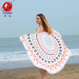 China Printed Round Beach Towel on sale