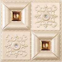 Decorative False Wall Panel Designs 3d Pu Leather Wall Panel Room Decoration , D-013