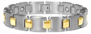 China Fashion titanium bracelet with magnet,negative ion, far infrared and germanium TSB-067 on sale