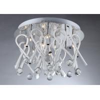 Coffee Shops Glass Crystal Ceiling  Lights G4 110V / 220V OEM