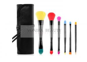 China Dual End Promotional Makeup Brush Gift Set Vegan Taklon With Brush Case on sale