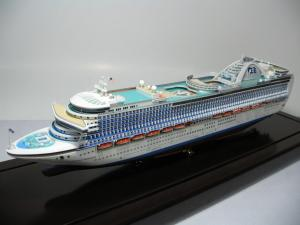 China Ivory White Plastic Cruise Ship Models With Crown Princess Cruise Ship Series on sale