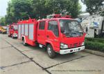 ISUZU NKR 600P Water Tank Fire Fighting Truck With Fire Pump 3000Liters